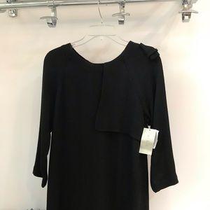 A.L.C Crepe Black 3/4 Long Sleeve Mini Dress